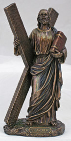 St. Andrew Statue, cold cast bronze