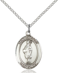 St. Gregory the Great Sterling Silver Medal 8048-bliss