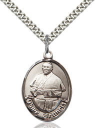 Pope Francis Sterling Silver Oval Medal 8451-bliss