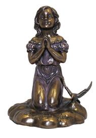 Kneeling Girl Praying Statue