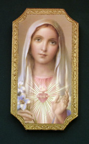 Immaculate Heart of Mary Florentine Wall Plaque