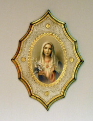 Immaculate Heart of Mary Florentine Plaque