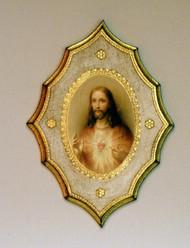 Sacred Heart of Jesus Florentine Plaque