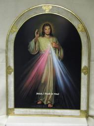 Divine Mercy Florentine Wall Plaque