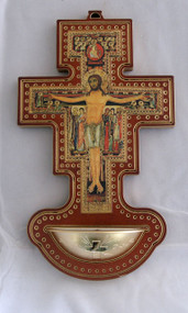 San Damian Cross Holy Water Font