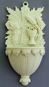 Alabaster First Communion Holy Water Font