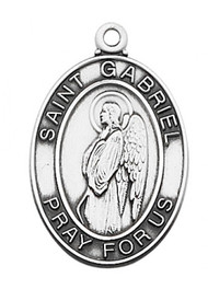STERLING SILVER ST. GABRIEL MEDAL L684GB