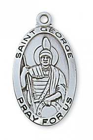 STERLING SILVER ST. GEORGE MEDAL