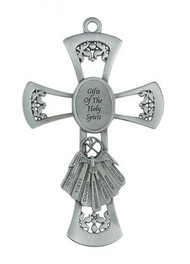 "PEWTER GIFTS OF THE SPIRIT 6"" CROSS 77-19"