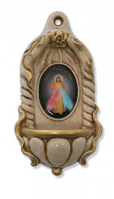 ITALIAN DIVINE MERCY HOLY WATER FONT 120-84