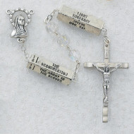 """""""MYSTERY"""" CRYSTAL AURORA IMPORTED ROSARY 7MM 258R"""