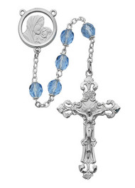 BLUE ROSARY 7MM 596RF