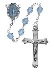 BLUE ROSARY 7MM 864DF