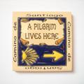 Camino De Santiago A Pilgrim Lives Here Fridge Magnet Tile