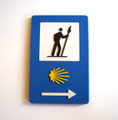 Camino de Santiago Scallop Shell and Arrow Road Sign Marker Pilgrim Souvenir Fridge Magnet