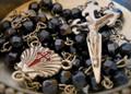Camino De Santiago St. James Scallop Shell Pilgrim Rosary Necklace