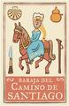 Camino de Santiago Symbols Pilgrim Playing Cards