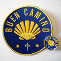 Camino de Santiago Buen Camino Pilgrim Cloth Patch and Pin