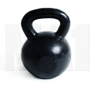 MA1 Black cast iron Club Grade Kettlebell 40kg