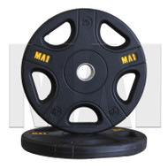 MA1 Pro Olympic Rubber Coated Weight Plate 25kg (Pairs)