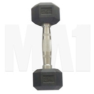 MA1 Rubber Hex Dumbbells - 45lbs (Pair)