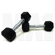 MA1 Rubber  Hex Dumbbells - 55lbs (Pair)