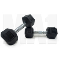 MA1 Rubber Hex Dumbbells - 75lbs (Pair)