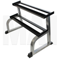 MA1 2 Tier Dumbbell Rack - Flat, Silver