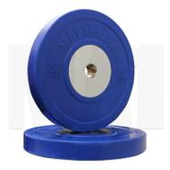 MA1 Elite Bumper Plates Colored 20kg Blue (Pairs)