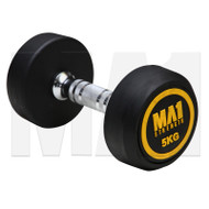 MA1 Commercial Rubber Dumbbells - 5kg (Pairs)