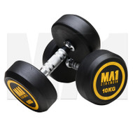 MA1 Commercial Rubber Dumbbells - 10kg (Pairs)