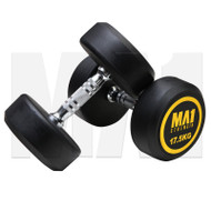 MA1 Commercial Rubber Dumbbells - 17.5kg (Pairs)