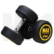 MA1 Commercial Rubber Dumbbells - 25kg (Pairs)