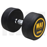 MA1 Commercial Rubber Dumbbells - 30kg (Pairs)