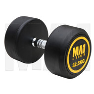 MA1 Commercial Rubber Dumbbells - 32.5kg (Pairs)