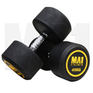 MA1 Commercial Rubber Dumbbells - 45kg (Pairs)