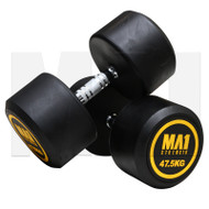 MA1 Commercial Rubber Dumbbells - 47.5kg (Pairs)