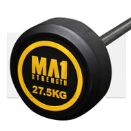 MA1 Fixed Rubber Barbell 27.5kg
