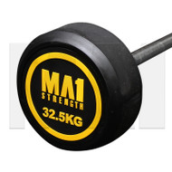 MA1 Fixed Rubber Barbell 32.5kg
