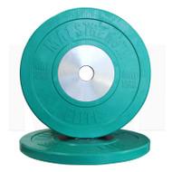 MA1 Elite Bumper Plate Colored 10kg Green (Pairs)