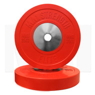 MA1 Elite Bumper Plate Colored 25kg Red (Pairs)