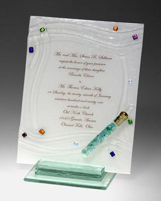 Fused Glass Wedding Invitation