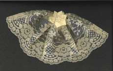 Ivory Lace Headcovering with Pearl Star Flower