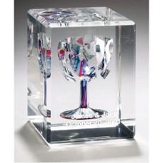 Rectangle Beveled Break Glass Cube