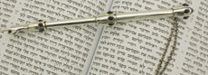 Sterling Silver with Amthyst Torah Pointer