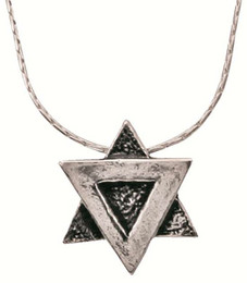 Sterling Silver Star of David Pendant with Sterling Chain