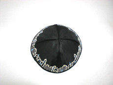 Satin Jerusalem Kippah - Black