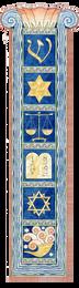 Jewish Symbols Self Adhesive Mezuzah
