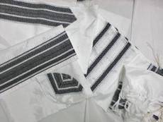 Gabrieli Silk White Background with Black Stripes