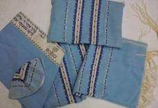 Gabrieli Wool Tallit Set in Sky Blue